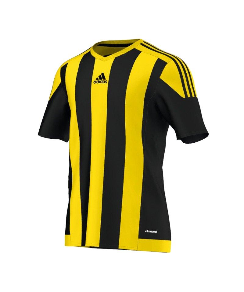 adidas striped 15 trikot kurzarm schwarz gelb