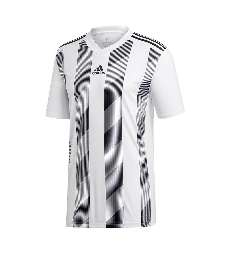 adidas Striped 19 Trikot kurzarm Weiss Schwarz