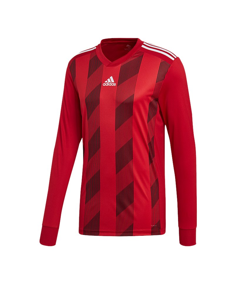 32127d95bbe641 adidas Striped 19 Trikot langarm Rot Weiss - rot