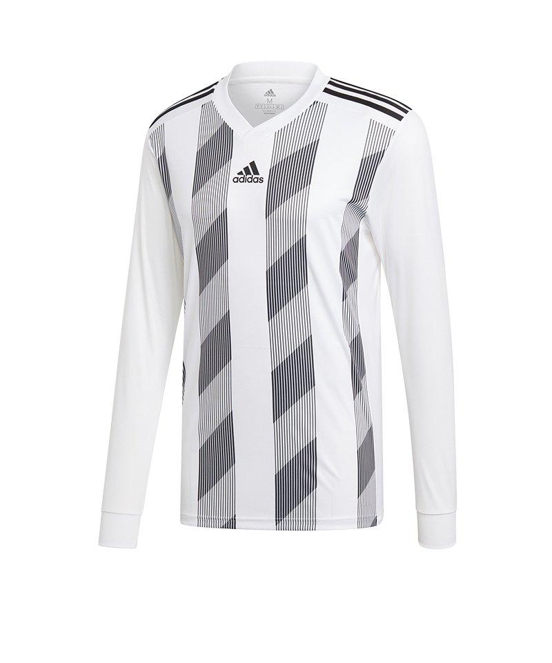 63a12ec7ea2922 adidas Striped 19 Trikot langarm Weiss Schwarz - weiss