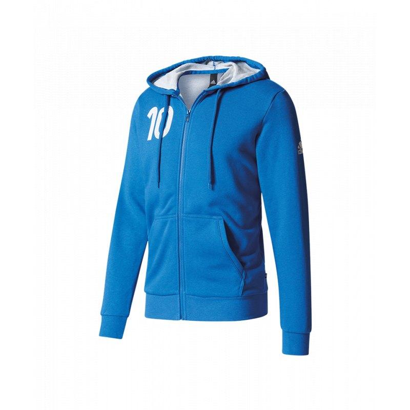 adidas Tango Player Icon Sweat Kapuzenjacke Blau