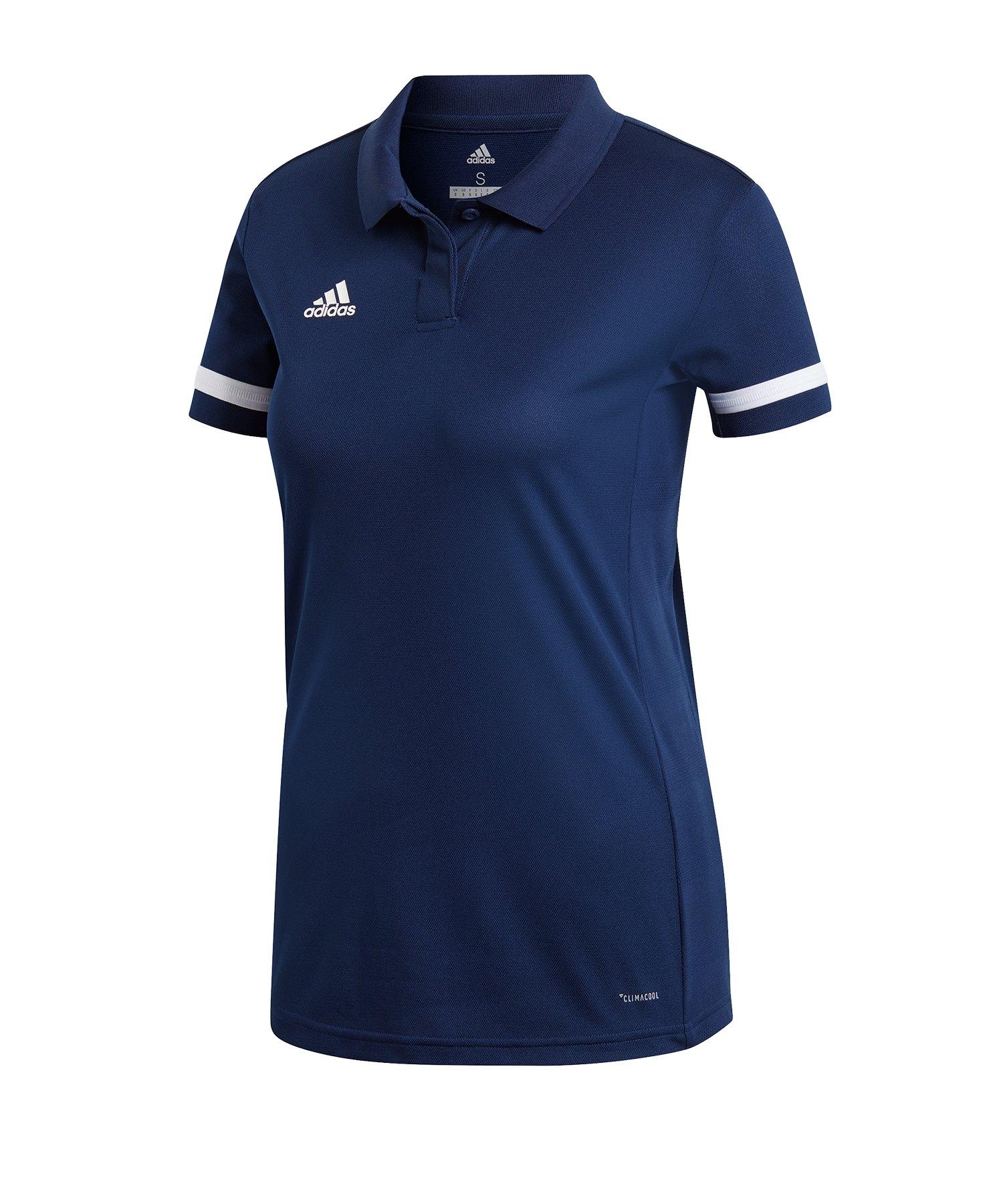 adidas Team 19 Poloshirt Damen Blau Weiss