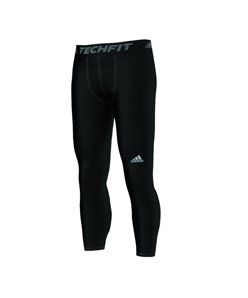 adidas Tech Fit Base Long Tight Schwarz