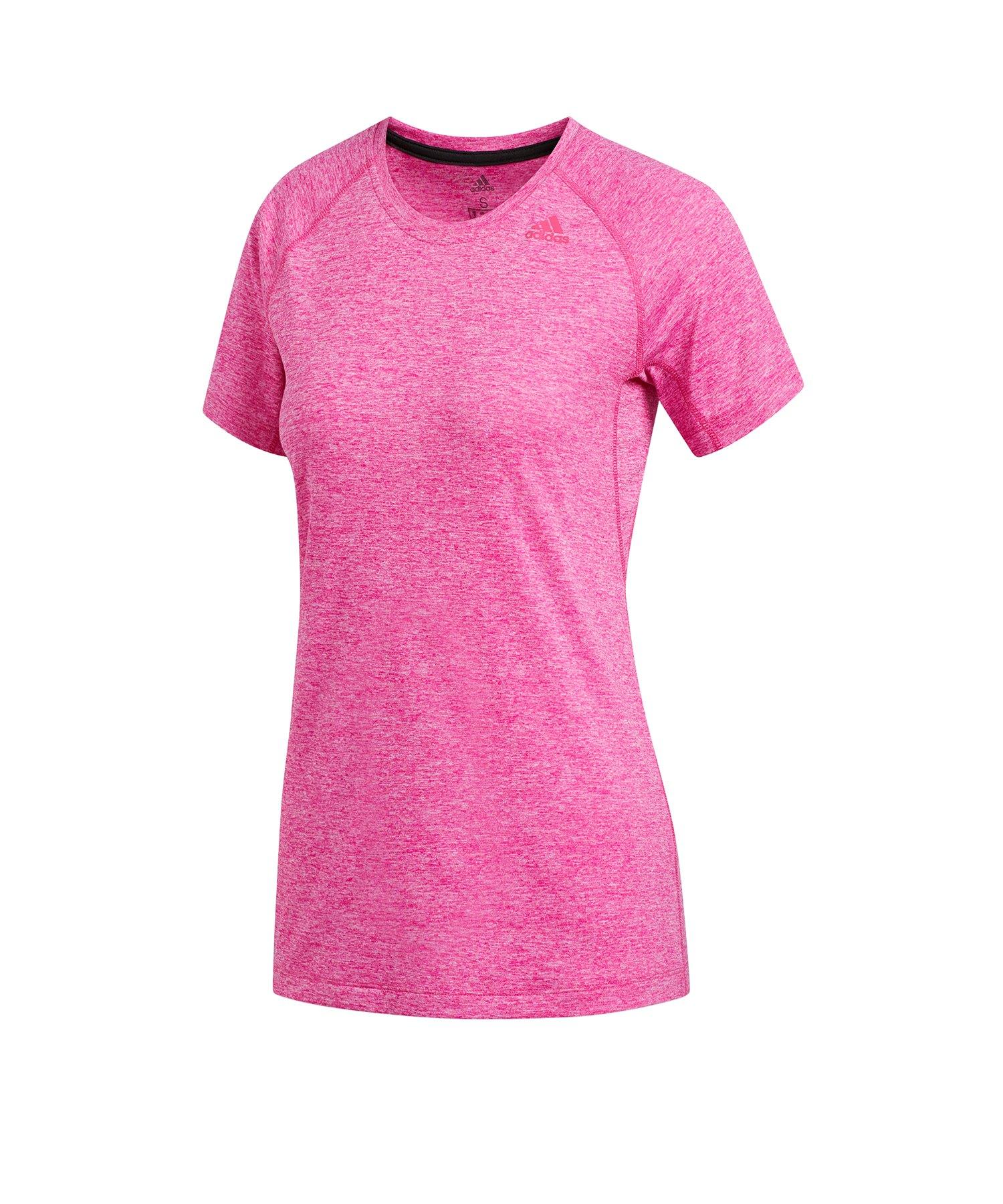 fb74d944ad1507 adidas Tech Prime 3S T-Shirt Running Damen Rosa - rosa