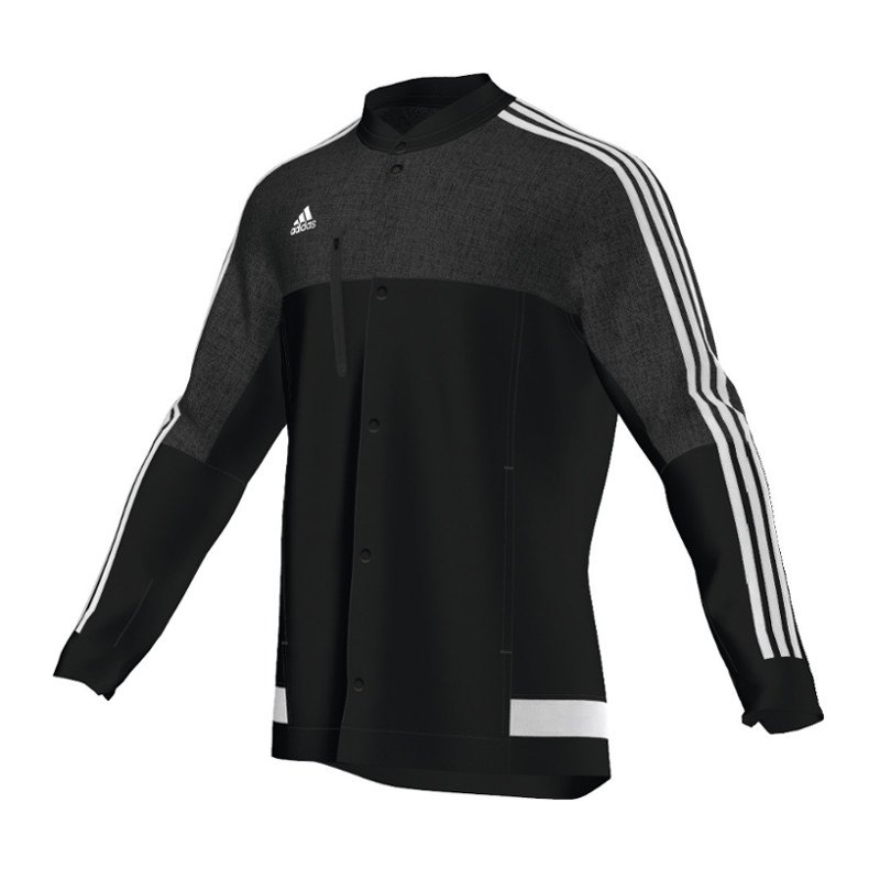 adidas tiro 14 anthem jacket jacke schwarz weiss. Black Bedroom Furniture Sets. Home Design Ideas