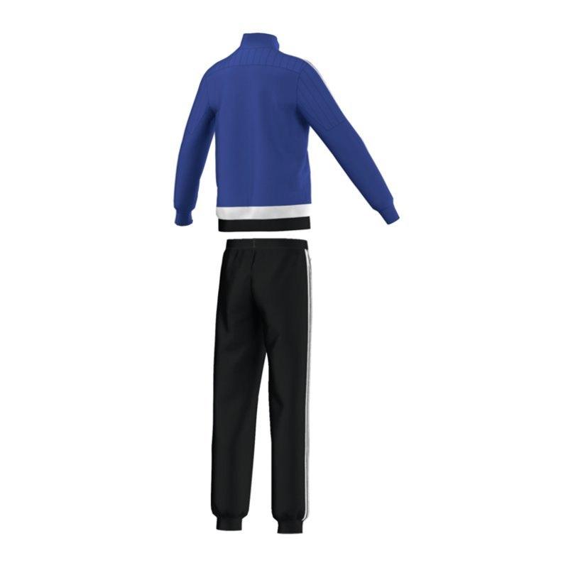 adidas tiro 15 polyesteranzug kids blau weiss. Black Bedroom Furniture Sets. Home Design Ideas