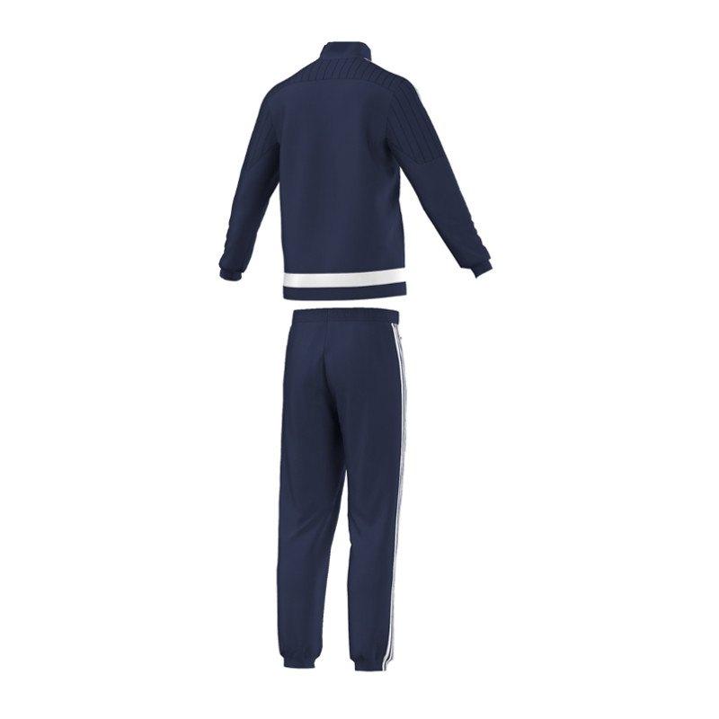 adidas tiro 15 pr sentationsanzug blau weiss anzug polyesteranzug jacke hose. Black Bedroom Furniture Sets. Home Design Ideas