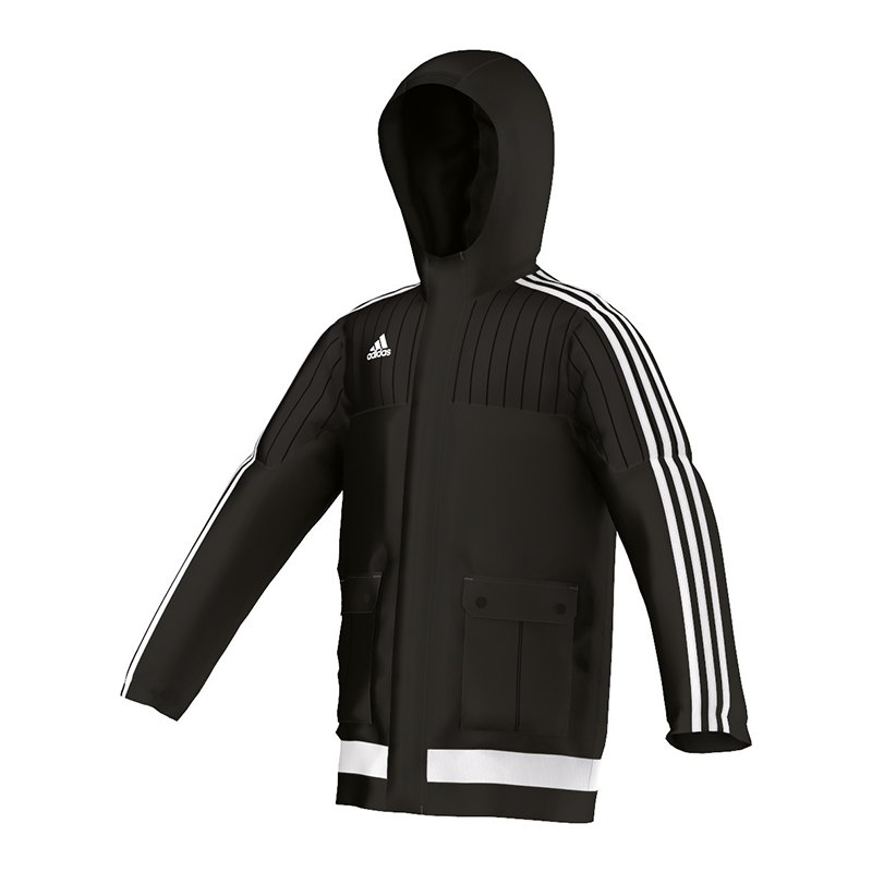 adidas tiro 15 stadionjacke kids schwarz weiss jacket. Black Bedroom Furniture Sets. Home Design Ideas