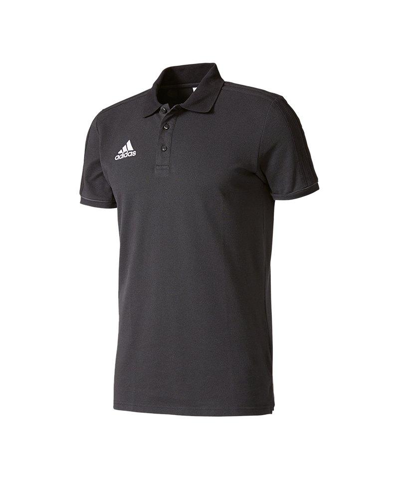 adidas Tiro 17 Poloshirt Schwarz Grau