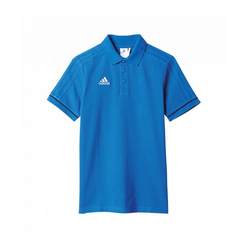 Fußball adidas Tiro 17 Poloshirt Kids Blau Weiss