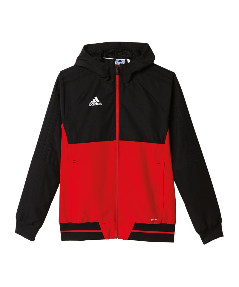 adidas Tiro 17 Trainingsjacke schwarzrot