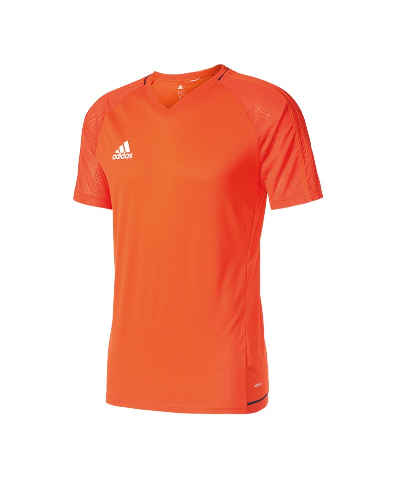 adidas Tiro 17 Trainingsshirt Orange Blau