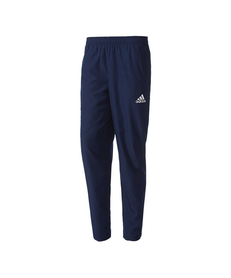 adidas Tiro 17 Woven Pant Hose lang Blau Weiss