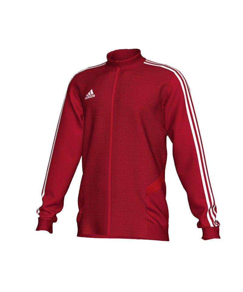 adidas Tiro 19 Trainingsjacke Rot Weiss