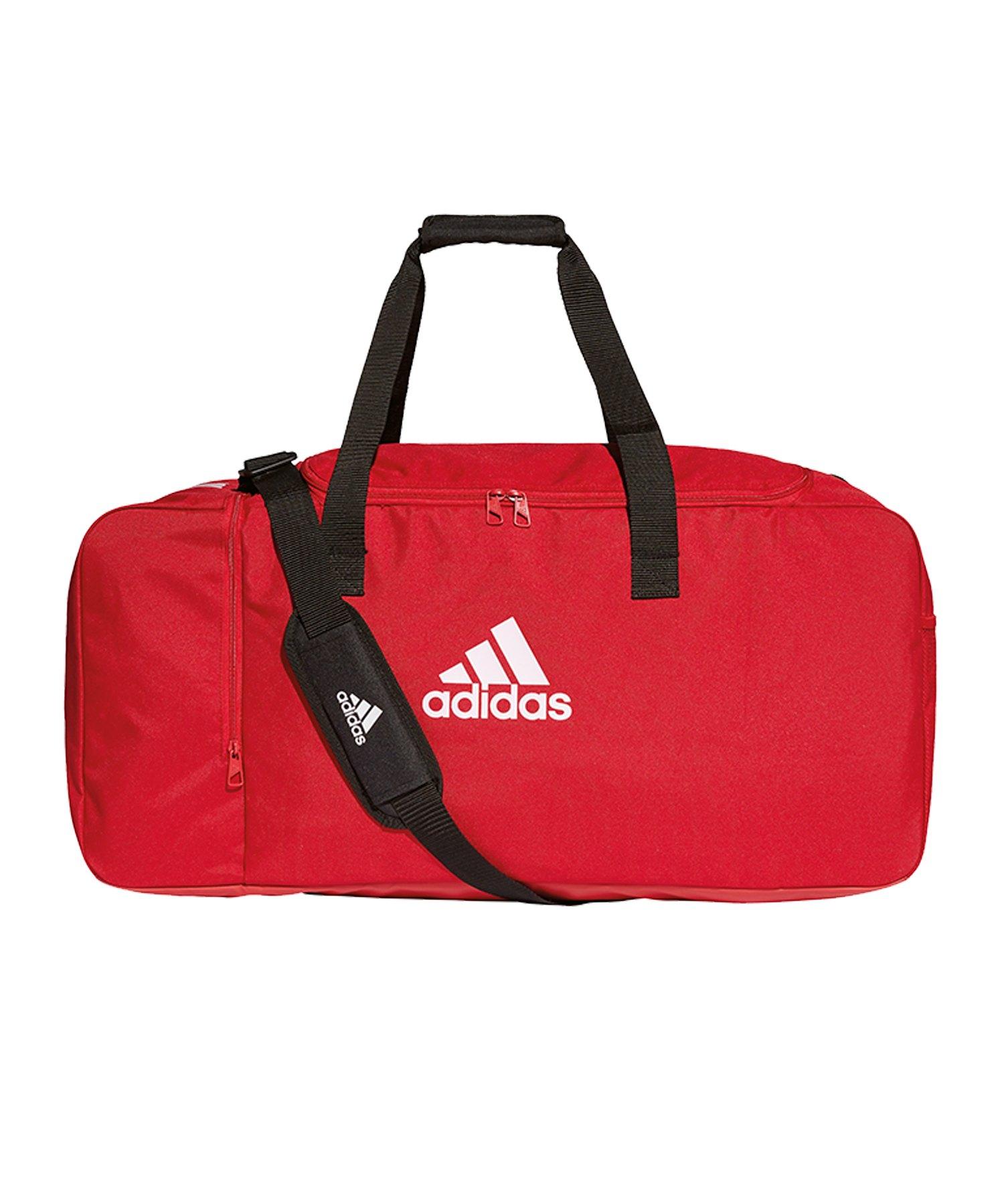 f548bf0a81c05 adidas Tiro Duffel Bag Gr. L Rot Weiss - rot
