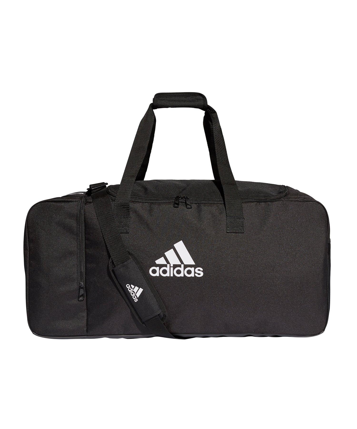 64220fb84298d adidas Tiro Duffel Bag Gr. L Schwarz Weiss - schwarz