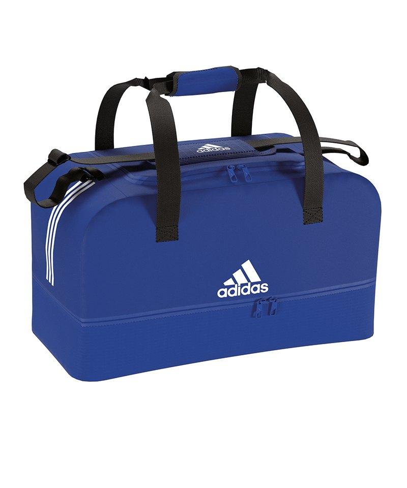 a10012e0ea667 adidas Tiro Duffel Bag Gr. M mit Bodenfach Blau - blau