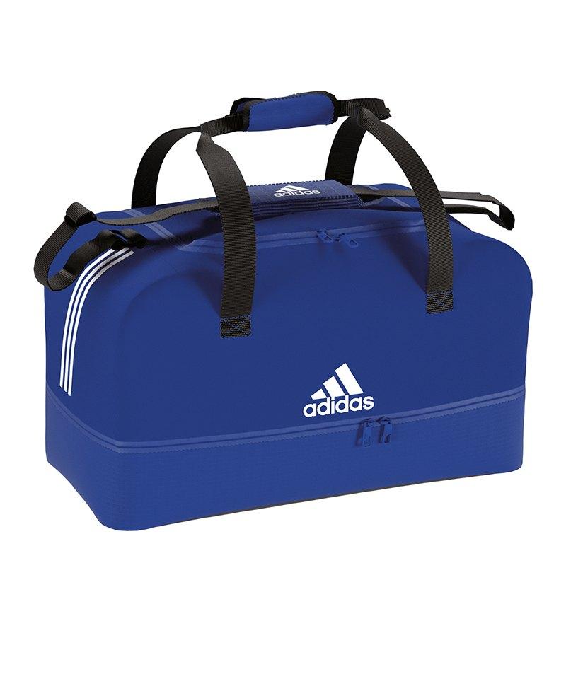 adidas Tiro Duffel Bag Gr. S mit Bodenfach Blau