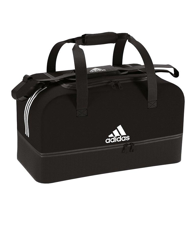 a253423bcb7a5 adidas Tiro Duffel Bag Gr. S mit Bodenfach Schwarz - schwarz