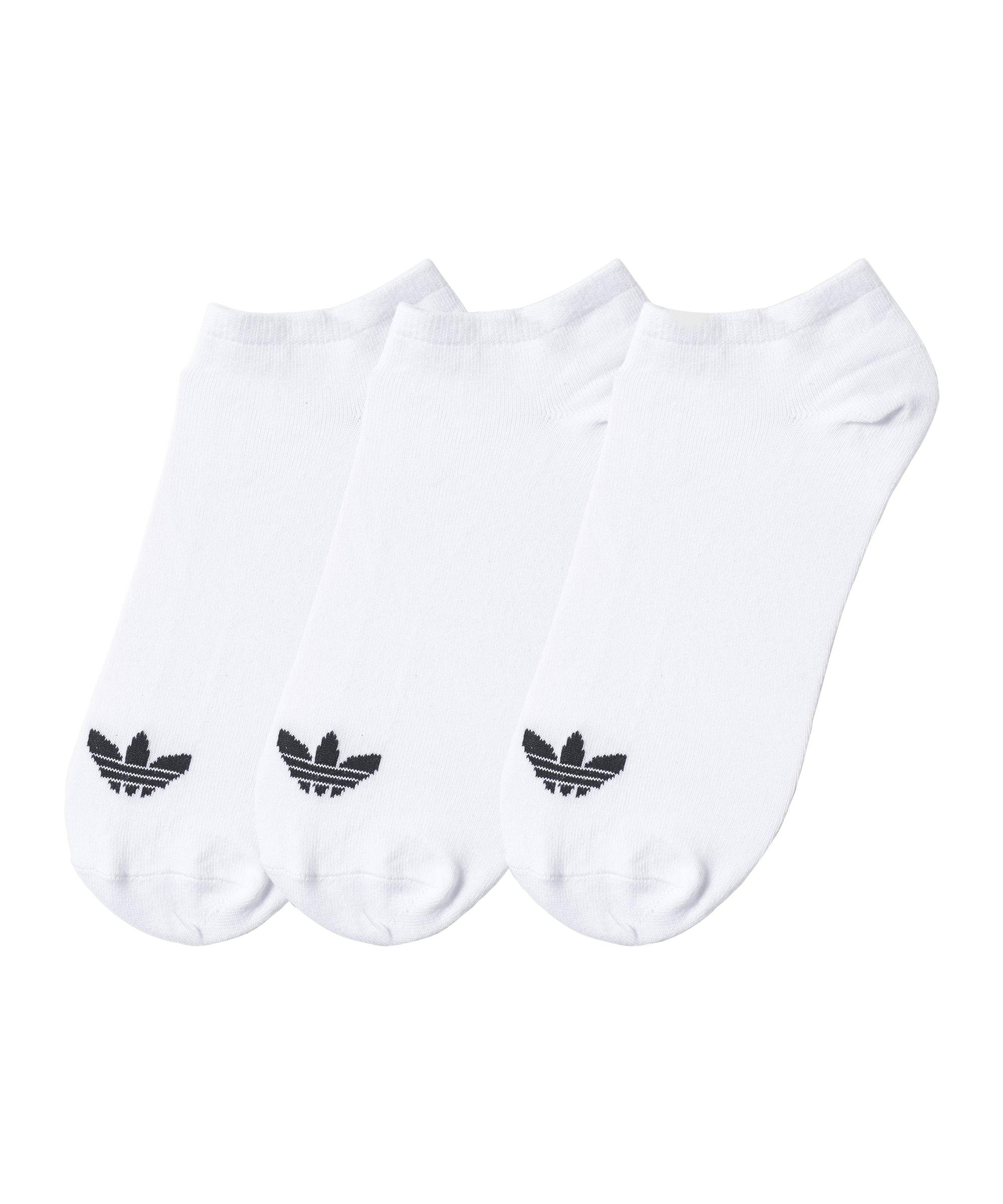 adidas Trefoil Liner Kurzsocken 3er Pack Weiss
