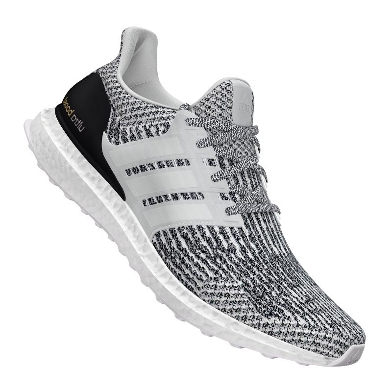 adidas ultra boost running weiss grau sneaker running. Black Bedroom Furniture Sets. Home Design Ideas