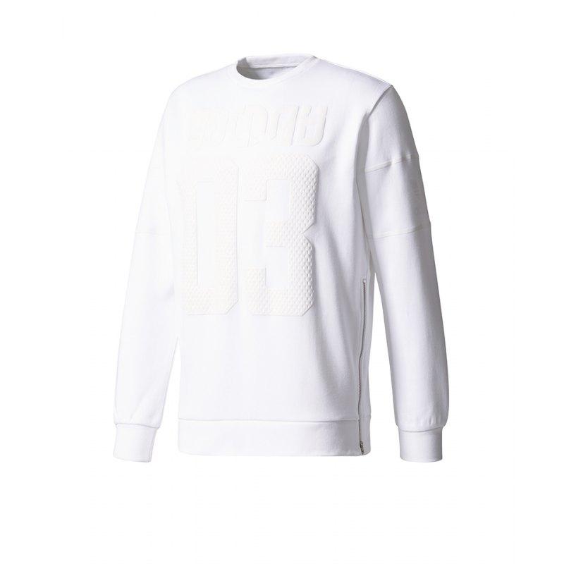 herren pullover adidas weiß