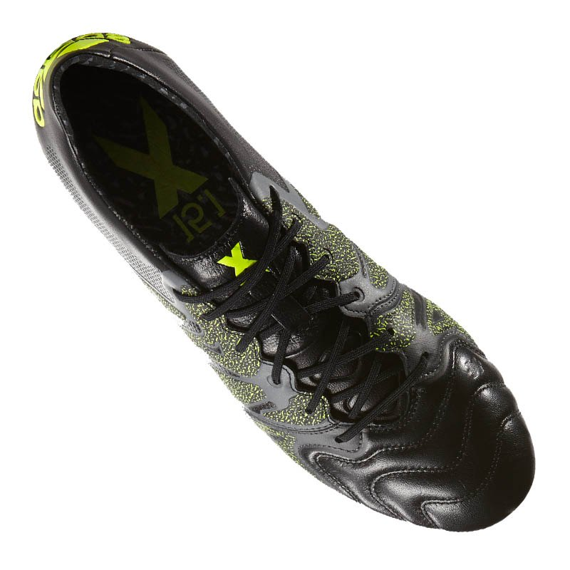 adidas x 15 1 fg ag leather schwarz gelb fussball fu ball nocken multinocken rasen. Black Bedroom Furniture Sets. Home Design Ideas
