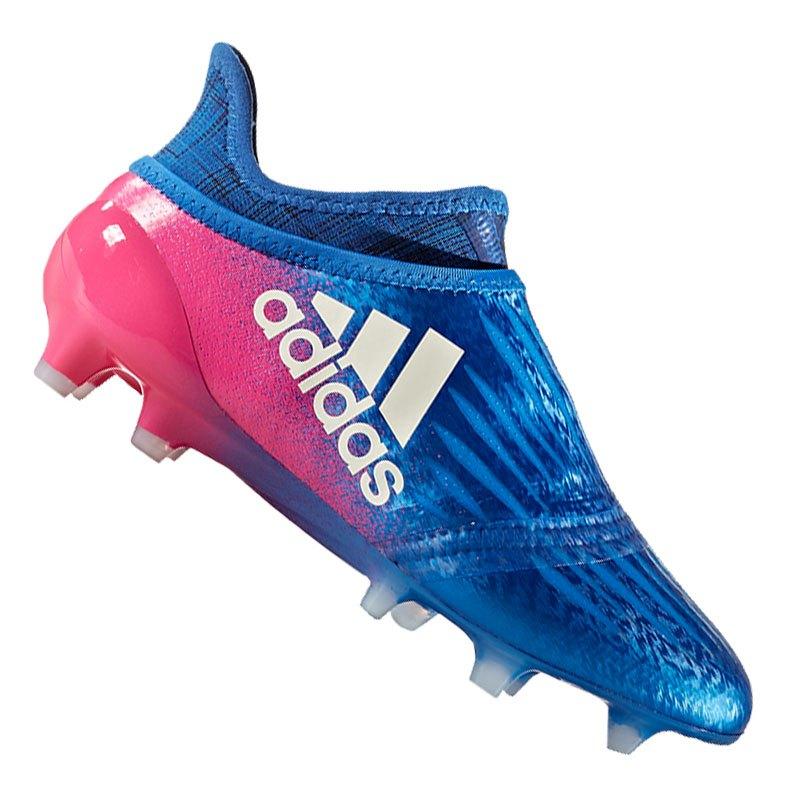 69f774d5b0ad90 adidas X 16+ Purechaos FG J Kids Blau Weiss Pink - blau