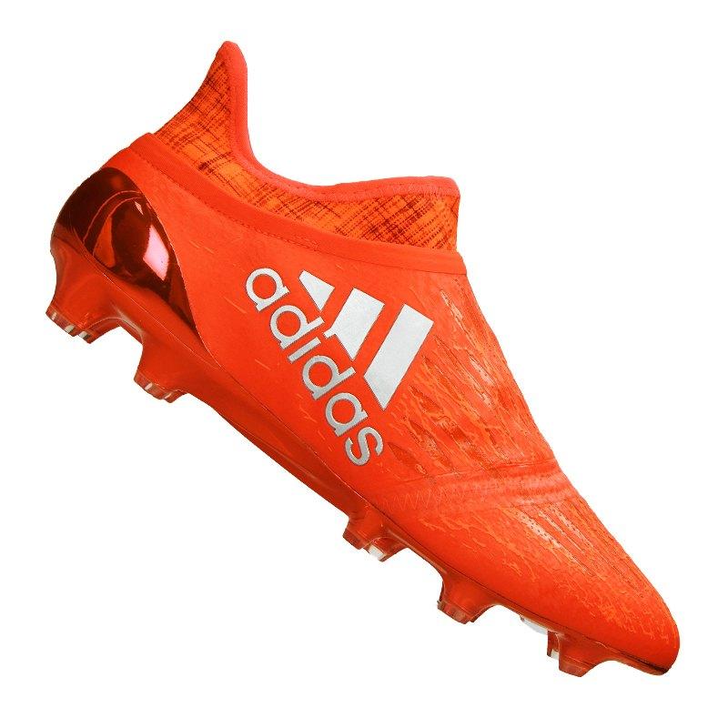 adidas X 16+ Purechaos FG Limited Orange Silber - orange