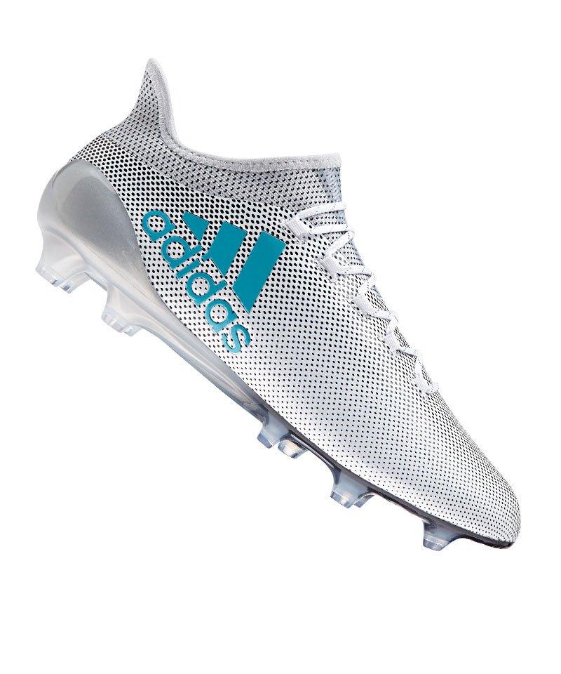 adidas X 17.1 FG Weiss Blau Grau - weiss 1df4069132