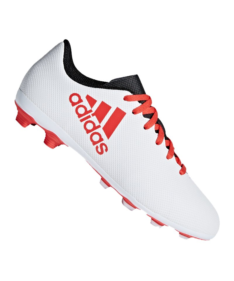 outlet store sale 2972c c60f6 adidas X 17.4 FxG J Kids Weiss Rot