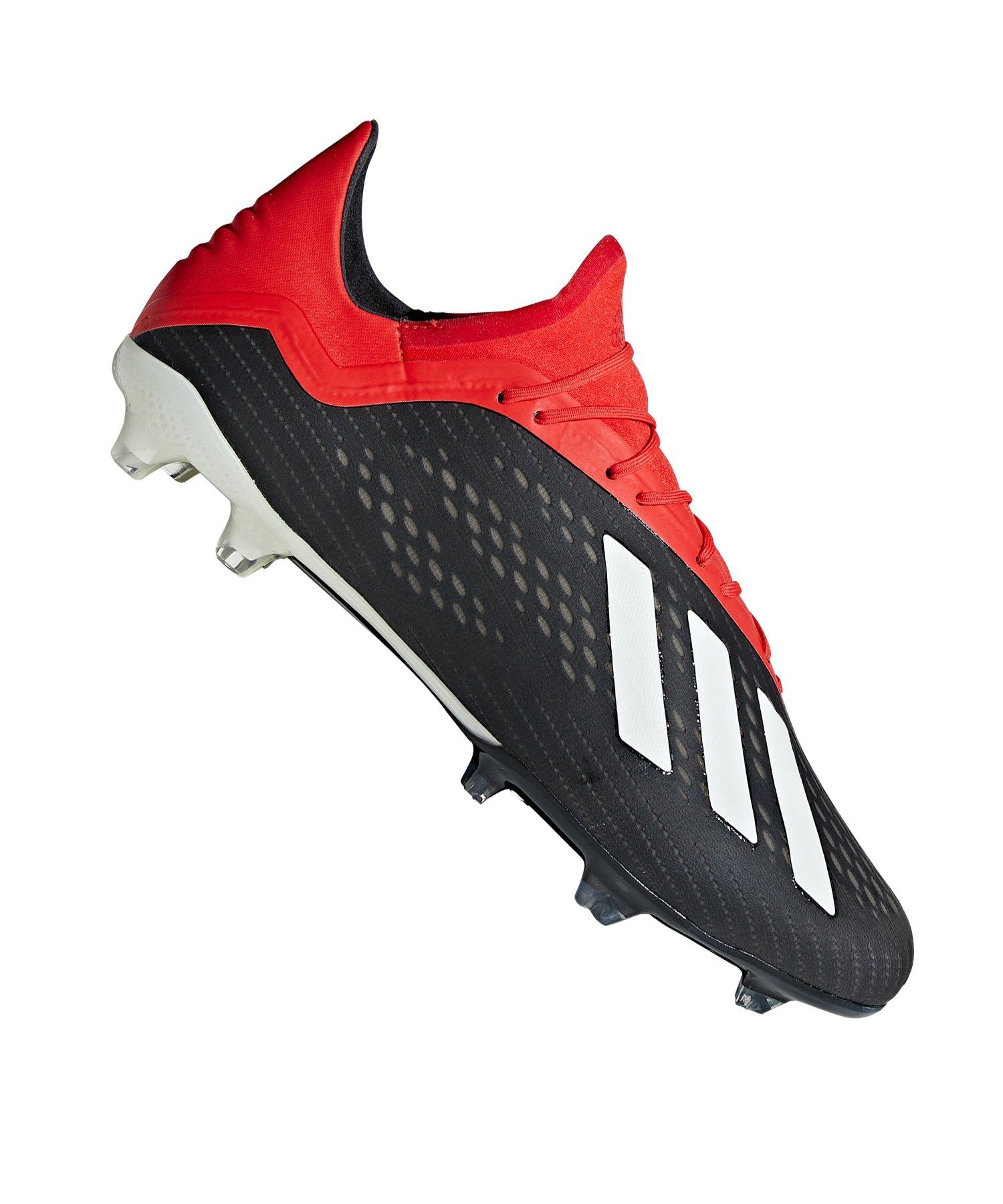 sports shoes 70f9a 6f650 adidas X 18.2 FG Schwarz Rot - schwarz