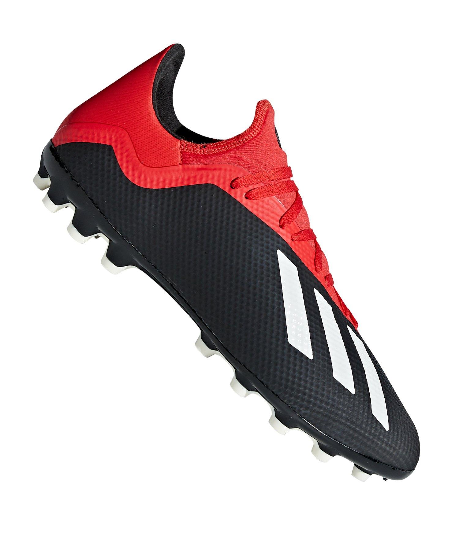 official photos 1a154 36000 adidas X 18.3 AG Schwarz Rot - schwarz