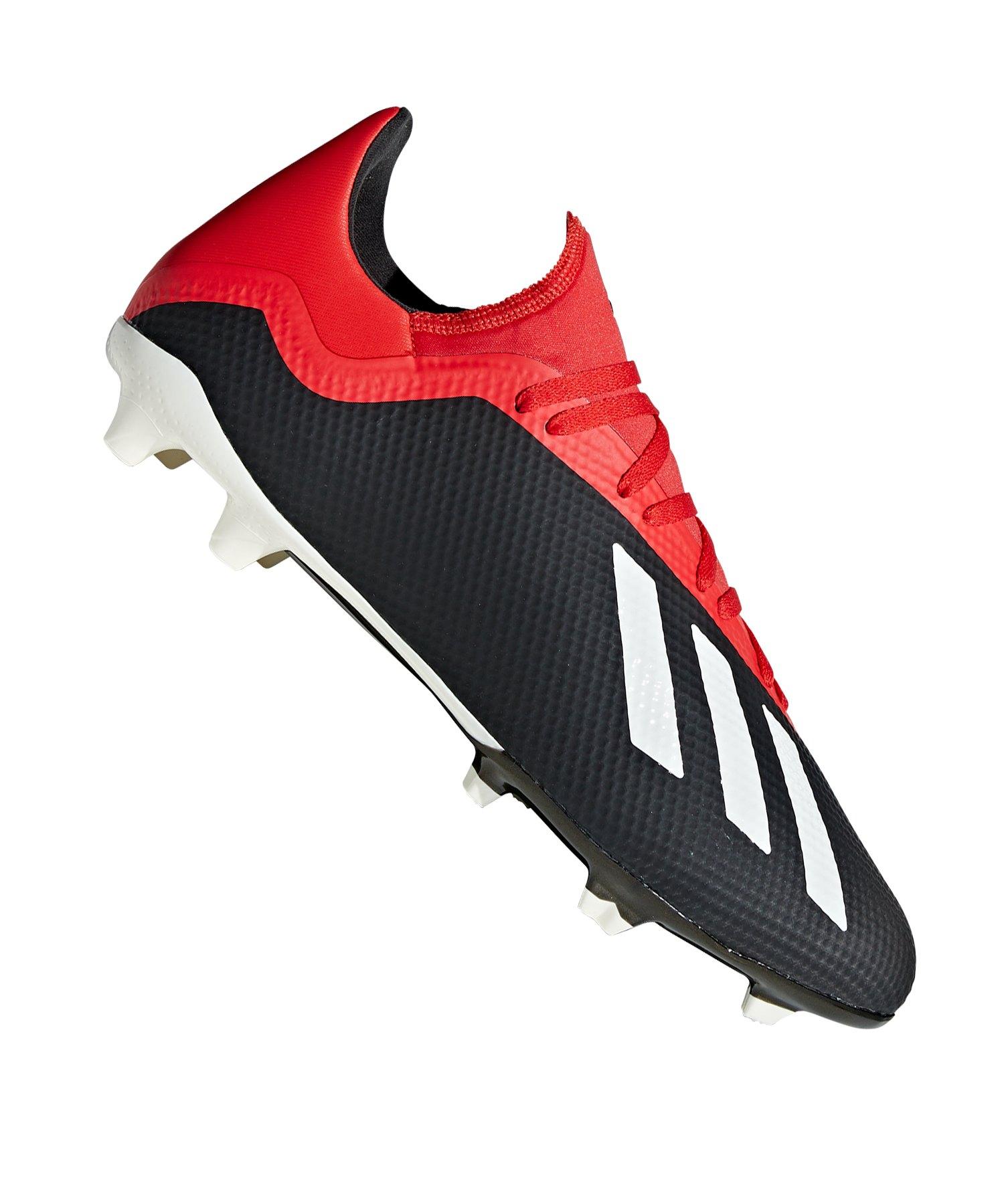 new product ea048 76e0e adidas X 18.3 FG Schwarz Rot - schwarz