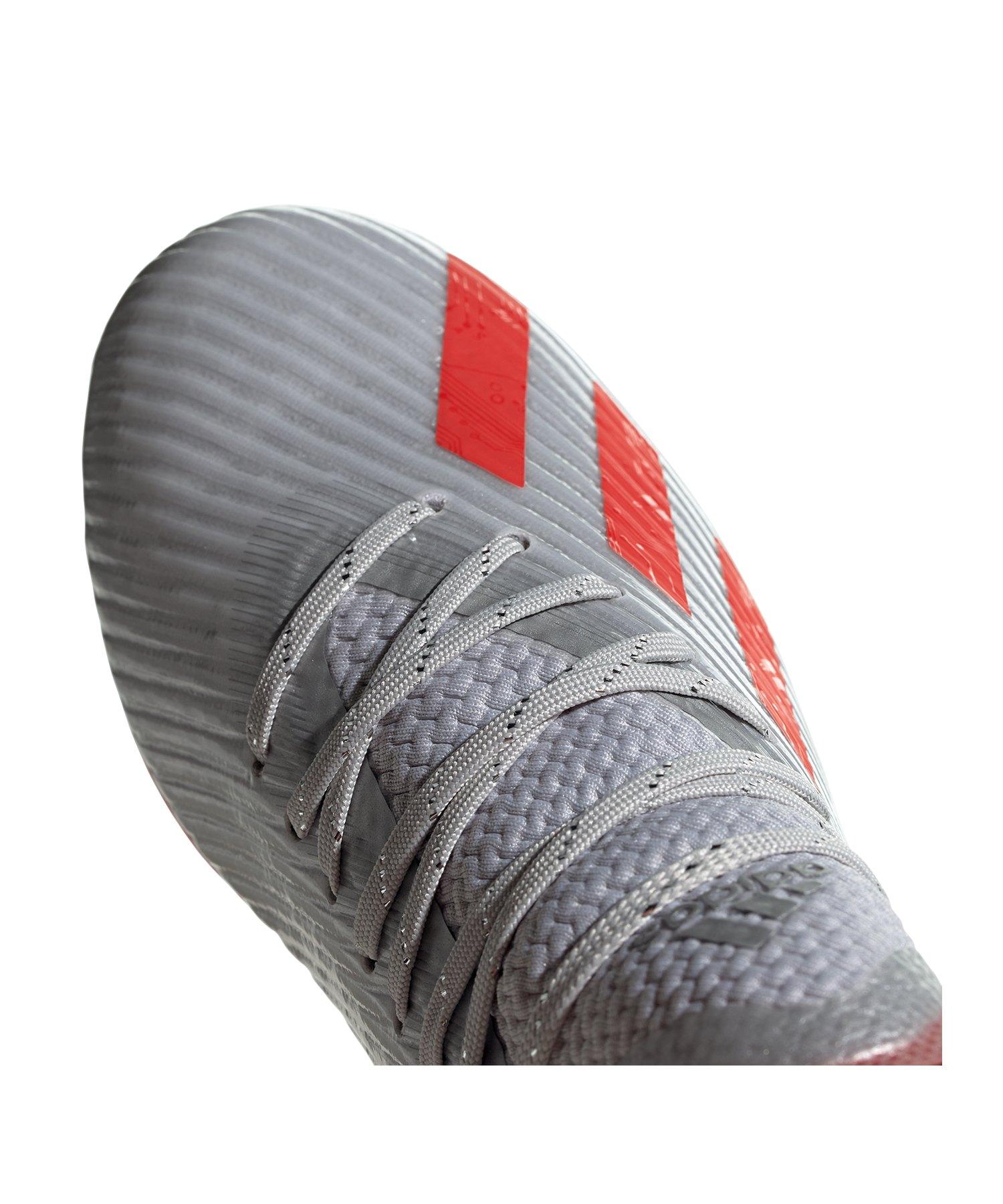 c1e3d76afaac adidas X 19.1 FG J Kids Silber Rot |Fussballschuhe | Rasen ...