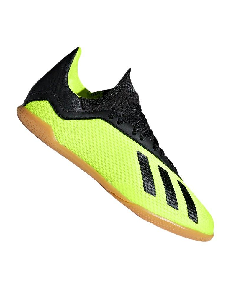adidas X Tango 18.3 IN Halle J Kids Gelb Schwarz