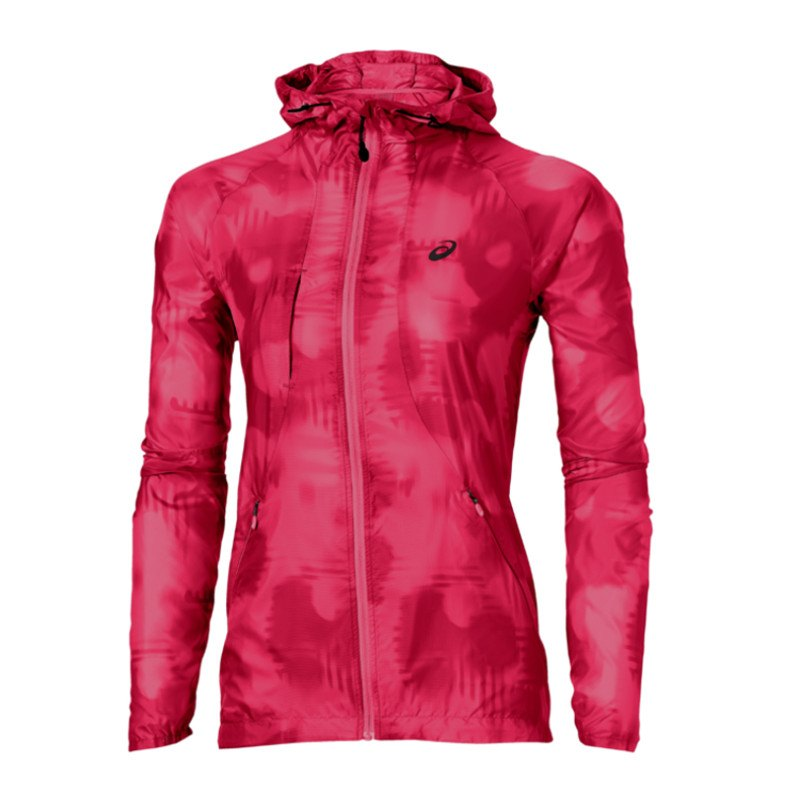 asics fuzex packable jacke running damen jacket laufen frauen rosa. Black Bedroom Furniture Sets. Home Design Ideas
