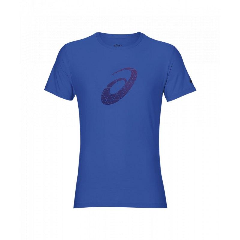 Asics Graphic Top T-Shirt Running Blau F0819