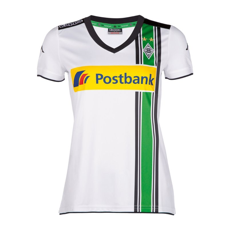 borussia m nchengladbach trikot home wmns 15 16 heimtrikot kurzarmtrikot fanartikel. Black Bedroom Furniture Sets. Home Design Ideas