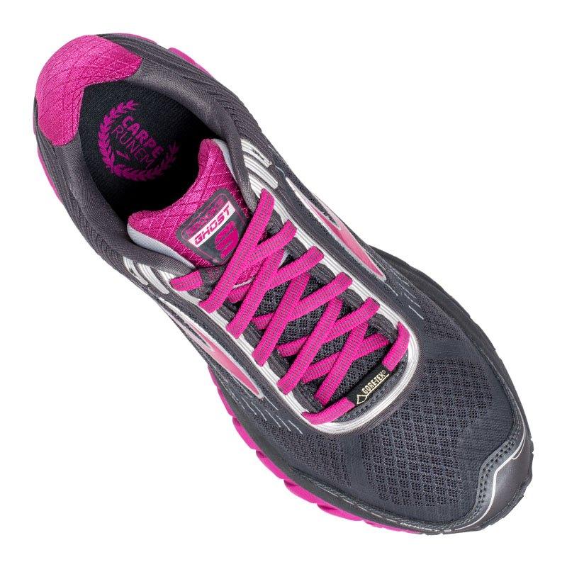 brooks ghost 9 gtx running damen grau pink f048 trailschuh laufschuh joggingshoe wald. Black Bedroom Furniture Sets. Home Design Ideas