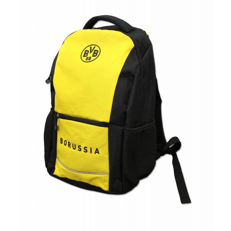 6303e40c7f161 BVB Borussia Dortmund Rucksack Schwarz Gelb - schwarz
