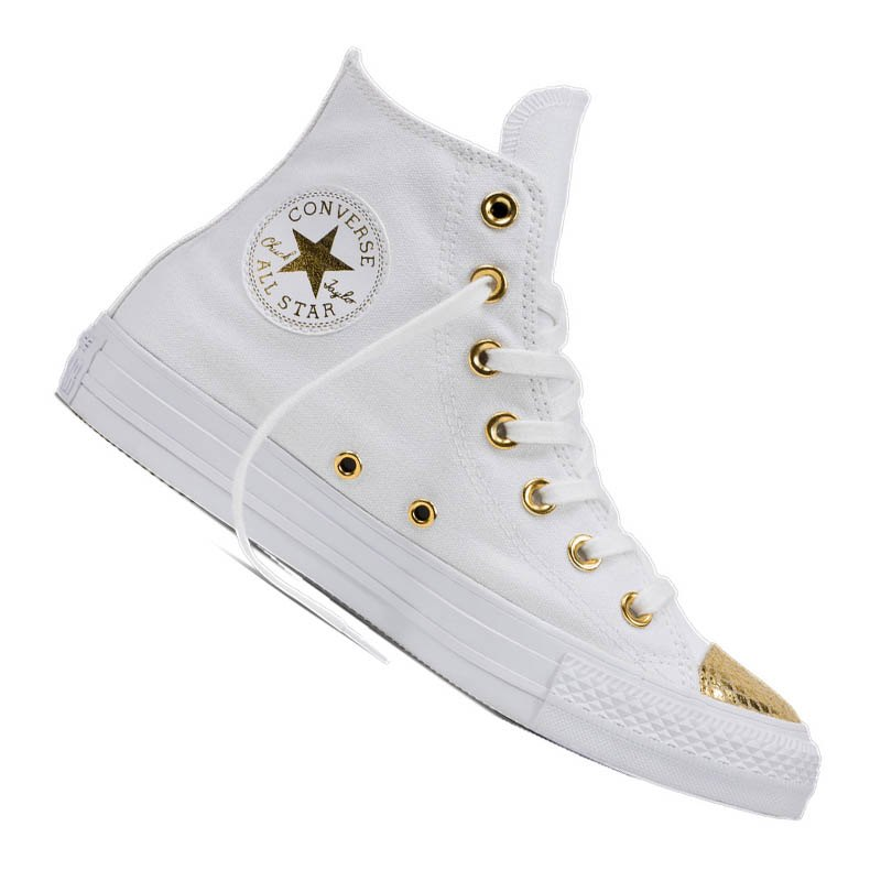 converse chuck taylor as hi damen weiss gold lifestyle. Black Bedroom Furniture Sets. Home Design Ideas