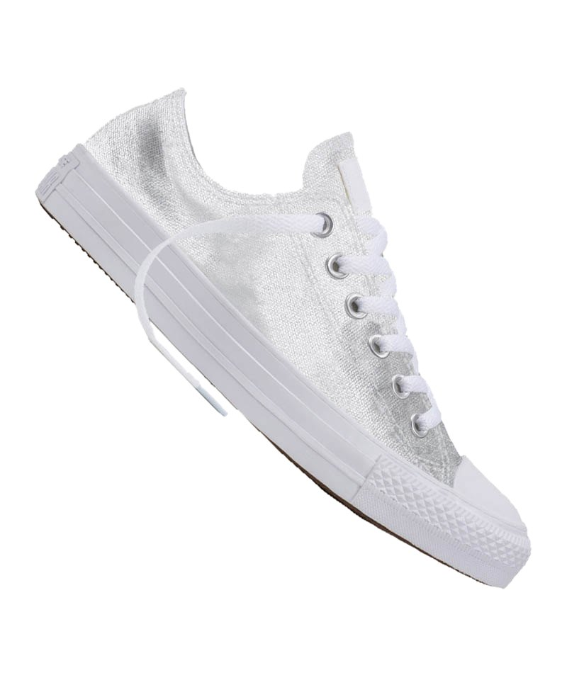 converse chuck taylor as low sneaker damen weiss lifestyle sneaker freizeit damen. Black Bedroom Furniture Sets. Home Design Ideas
