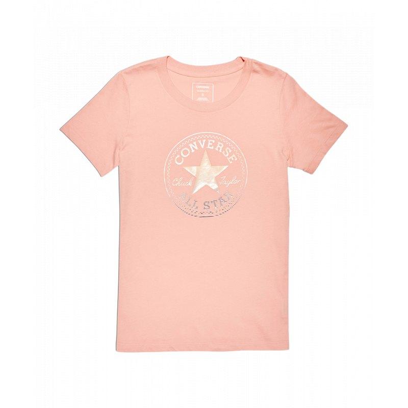 converse tshirt damen rosa