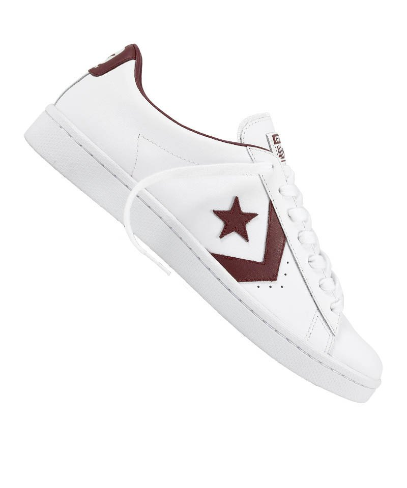 Converse Pro Leather OX Sneaker Weiss Rot F178