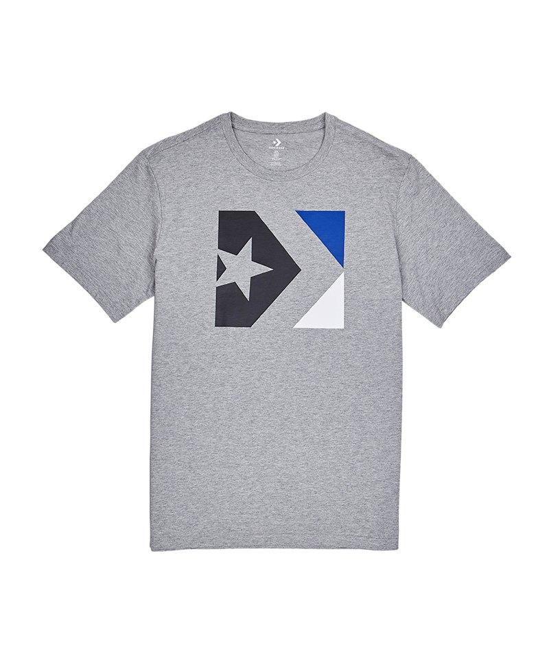 eed07c8c44a7 Converse Star Chevron Box Tee T-Shirt F035 - Grau