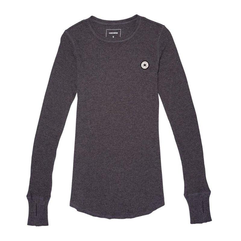 converse thermal longsleeve shirt damen grau f046. Black Bedroom Furniture Sets. Home Design Ideas