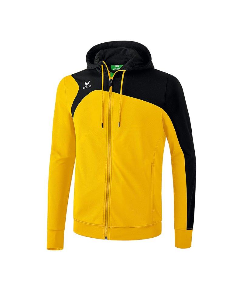 Erima Club 1900 2.0 Trainingsjacke mit Kapuze Herren schwarz weiss Kapuzenjacke