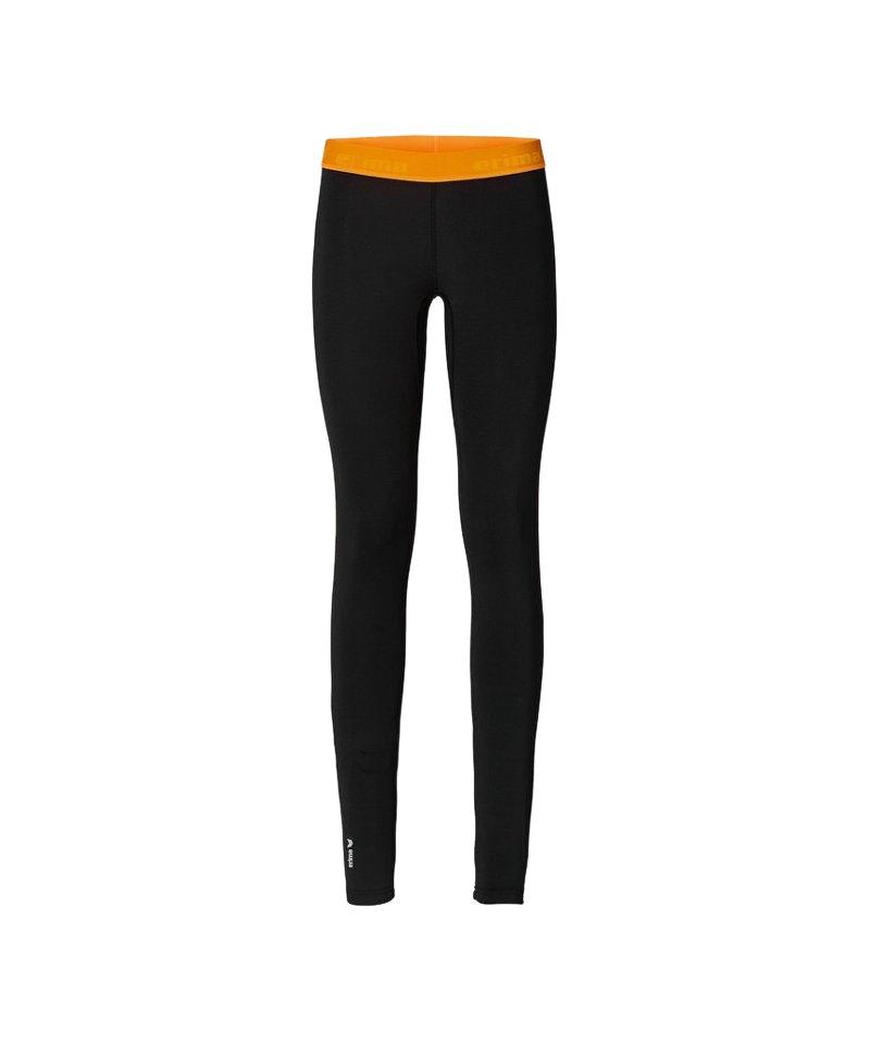 erima running tight hose lang damen schwarz orange. Black Bedroom Furniture Sets. Home Design Ideas