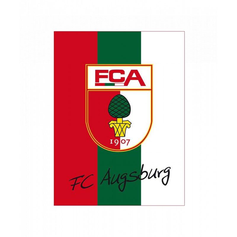 FC Augsburg Coralfleece Decke 130x170 cm - schwarz